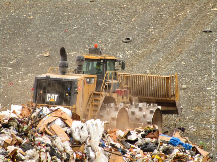 Front Loader at the Anchorage, Alaska Landfill