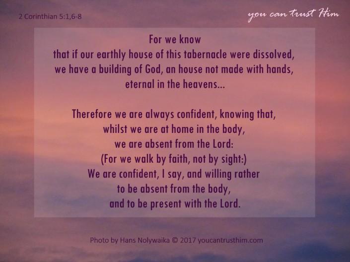 2 Corinthians 5:1,6-8