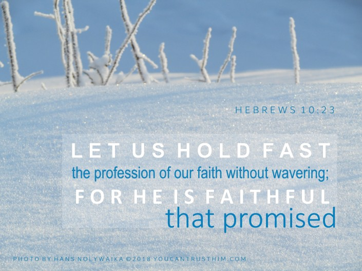 Hebrews 10:23 He is faithful that promised