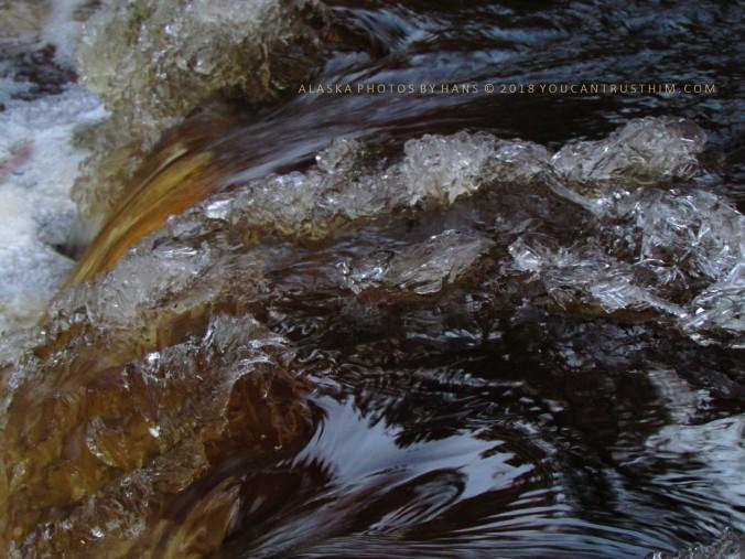 Breakup on Little Goldstream Creek, Alaska