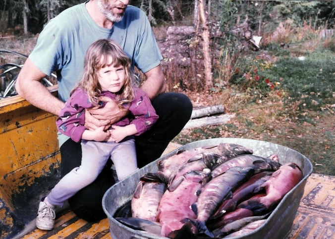 Tub of Chum Salmon